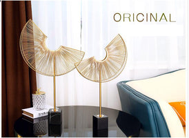American Luxury Metal Sector Figurines Home Furnishing Decoration Crafts Accessories Hotel Livingroom Desk Ornaments Decoration