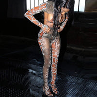 Hugcitar 2019 snake print extra crop top bra leggings with socks 3 pieces set autumn winter women sexy club party outfits