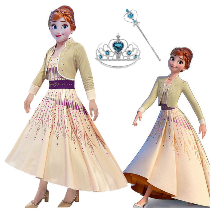Frozen 2 Cosplay Queen Elsa Dresses Elsa Elza Costumes Princess Anna Dress Girls Party Vestidos