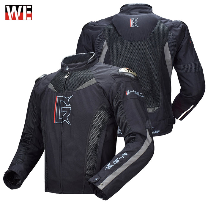 GHOST RACING Motorcycle Jacket Motorbike Riding Jacket Windproof Full Body Protective