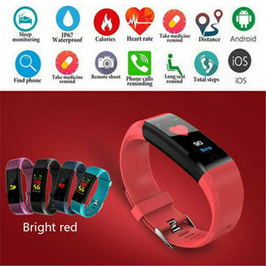 2020 Hot Women Men Fitness Waterproof Smart Watch Activity Tracker Heart Rate Fitbit For Android iOS