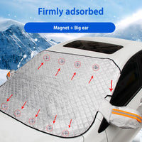 190*116cm Magnetic Car Windshield Snow Cover Tarp Winter Ice Scraper Frost Dust Guard Sunshade Protector