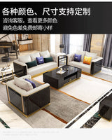 Sofa 123 Combination Post-Modern Simple Small-Sized Solid Wood Sofa Model Room sofa set