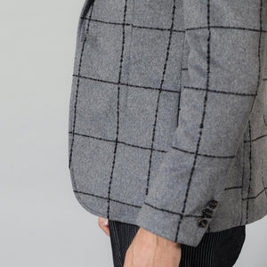 SIMWOOD 2019 autumn winter new casual blazers men fashion plaid suits jacket wool blend Checked coats plus size outwear SI980660