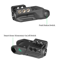 Intelligent Tactical Pistol Green Laser Sight Rechargeable Glock Laser Pointer with 2 types of on/off switches