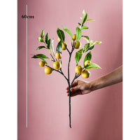 Single simulation lemon fruit lemon branch floral fake branches home indoor living room soft