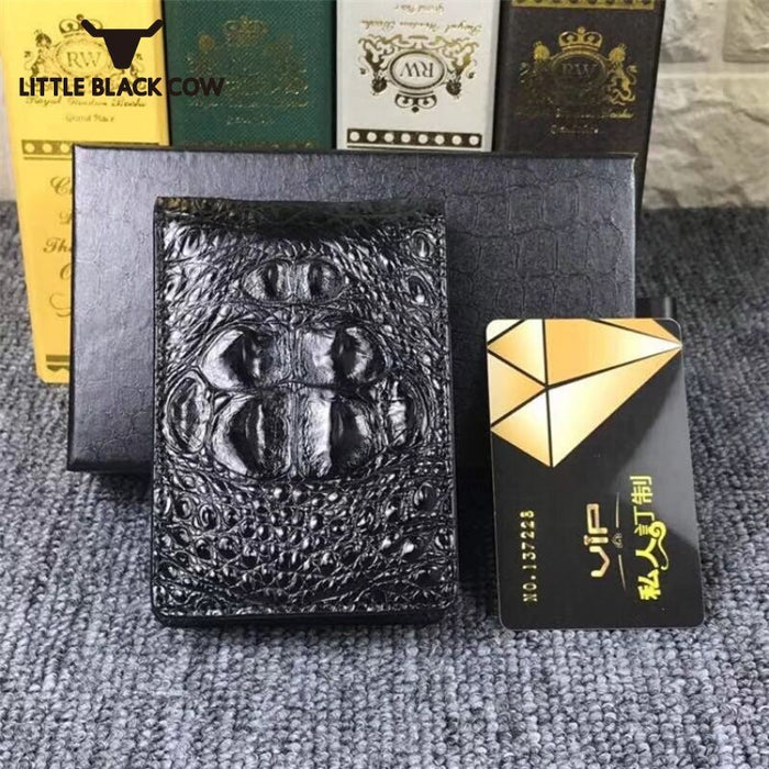 Brand Business Men Wallets Genuine Leather Multi-Card Position Small Wallet Top Quality