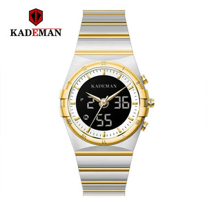 KADEMAN Wrist Watch Men Waterproof Chronograph Military Army Stainless Steel Male Clock Top Brand Luxury Man Sport Watches K9079