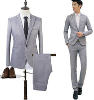 MRMT 2020 Brand New Men's Jackets Casual Suit Two-piece Suit Solid Color for Male  Long-sleeved Jacket Blazer Suit Clothing