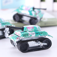 1PCS Retro Nostalgic Classic Children's Wind Up Toy Iron Tank Toys for Children