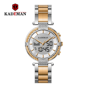 KADEMAN Ladies Watches Luxury Gifts TOP Brand LCD Business Women Watch Fashion Bracelet
