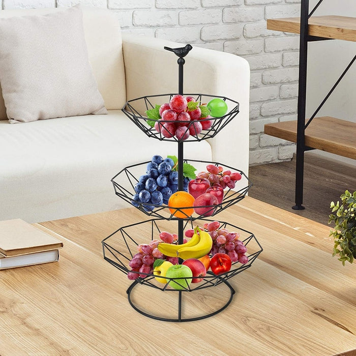 Countertop Fruit Basket Holder Decorative Tabletop Stand Perfect for Vegetables Snacks Kitchen HHome Accessories Storage