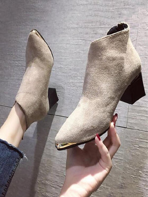 Boots Women Shoes Woman Boots Fashion High-heeled Pointed Ankle Boots Winter Boots 2019 Winter New Fur Warm Boots X325