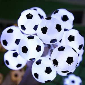 10 LEDs Football String Lights DIY Soccer accessories Atmosphere for Bar Club Party