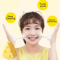 Newest 60g Mini Cheese Handmade Sea salt  Soap Face Body Cleaner Removal Pimple Acne Treatment Skin Care Whitening Soap TSLM1