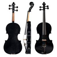 4/4 Full-Size Violin Violin Sound and Electric Violin Solid Wood Body Ebony Accessories High Quality Black Electric Violin