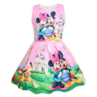 2019 Disney Minnie Girls summer small children's vest dress cotton children's clothing girl baby