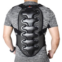 WOSAWE Sports Spine Back Support Off Shoulder EVA Pad Belt Snowboard Ski Motorcycle