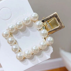 Heart-shaped Pearl Hairpins Woman Elegant  Korean Style Hair Clips Alloy
