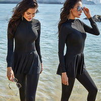 Black Swimming Suit For Burkini Muslim Fashion Swimwear Women Swimsuit Long Sleeve Arabic Turkey Pakistani Islamic Swim Wear