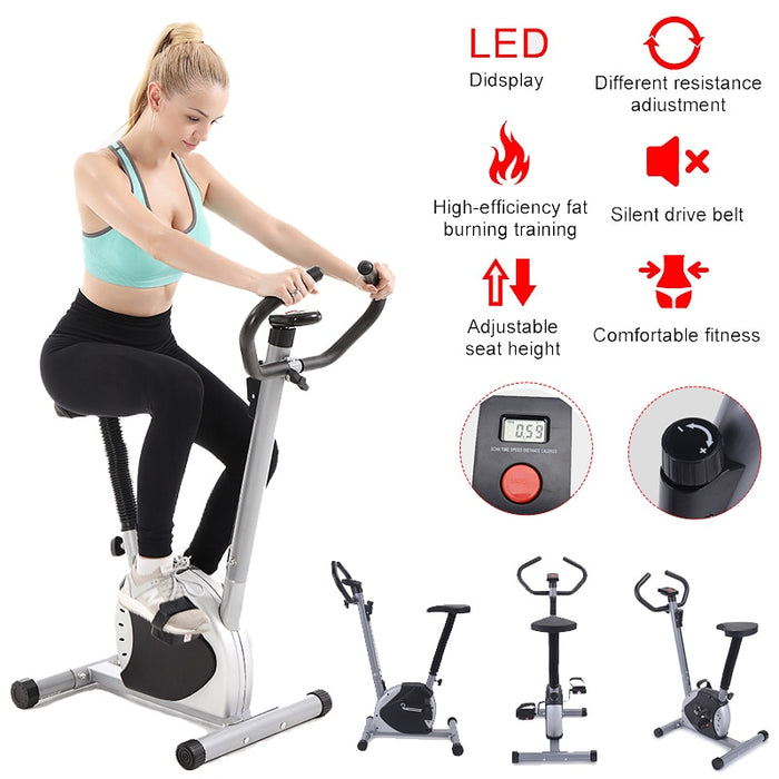 Digital Display Cardio Home Gym Fitness Indoor Spinning Cycling Training Exercise Bike