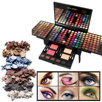 Miss Rose Professional Makeup 180 Colors Matte Shimmer Palette Powder Blush Eyebrow Contouring Beauty Kit Box KG66