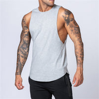 Workout Gym Mens Tank Top Vest Muscle Sleeveless Sportswear Shirt Stringer Fashion Clothing