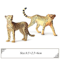 Children's Simulation Land Animal Animal Model Toy Lion Leopard Tiger Giraffe Crocodile Elk