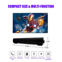 Bluetooth sound bar portable wireless speaker home theater built-in subwoofer for TV computer tablet with remote control