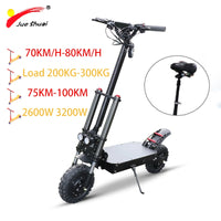 80KM/H 11'' 60V 3200W Electric Scooter Motor Wheel Samsung Lithium Battery Skateboard  Scooter Electric Patinete Eletrico Adulto