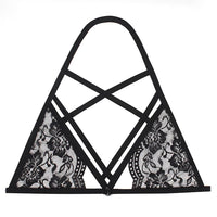 Sexy Women's Hollow Out Elastic Cage Bra Lace Fashionable Tops Bustier Ropa Interior