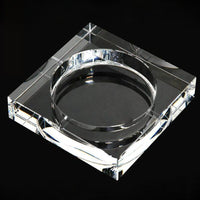 Crystal Glass Ash Tray Black/ Gold/Tranparent Square Shape Ashtray Cigar Smoking Accessory Household Office KTV Smoking Supply