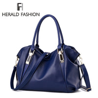 Herald Fashion Women's Handbags Quality Female Hobos Single Shoulder Bags Vintage Solid Multi-pocket Ladies Totes Bolsas Sac