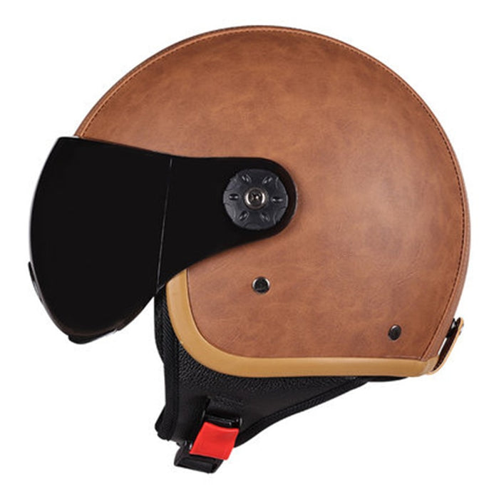 Retro Cruiser Motorcycle Helmet Chopper 3/4 Open Face Vintage Helmet  Moto Casque
