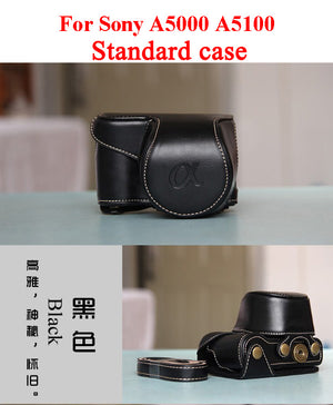High quality Vintage PU leather Camera Bag Case Cover Pouch for Sony A5000 A5100 A6000