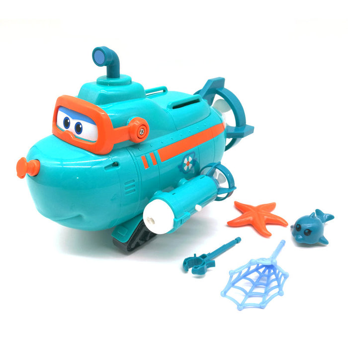 New Season Super Wings Willy's Submarine Boat with Sound Music Light Deformation Action