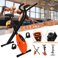 Indoor Cardio Cycling LED Display Dynamic Bicycle Foldable Low Noise Home Exercise Bicycle spinning Cycling Training Equipment