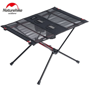 Naturehike Folding Camping Table Ultralight Portable Outdoor Foldable Picnic Table Collapsible Roll Up Aluminium Fishing Table
