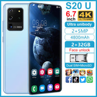 SOYES S20U 6.7 inch 2GB RAM 32GB ROM Mobile Phone 4800 mAh Cellphones Face ID Unlocked Smartphones