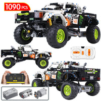 1090Pcs Technic City Off Road Vehicle Model Building Blocks SUV RC/non-RC Racing Car Truck Bricks for Toys Boys