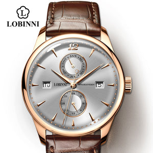 LOBINNI Watch Men Seagull Automatic Mechanical Movement Luxury Switzerland Brand Men's Watches Sapphire Waterproof relogio
