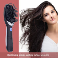 Portable Negative Ion Hair Straightening Comb Anti Static Scalp Massage Electric Hair Styling Tool Brush Comb Straightener