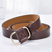 Women Belt Genuine Leather New Punk Style Fashion Pin Buckle Jeans Decorative Belt Chain Luxur