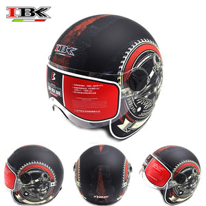 IBK Motorcycle Helmets Electric Bicycle Scooter Casco Casque Unisex 3/4 Anti-UV Open Face New Style four season Helmet