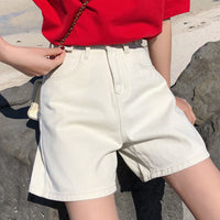 Jeans Shorts Women Summer All-match High Waist Short Denim Shorts New 2020 Fashion Korean Style Vintage Casual Shorts Woman P477