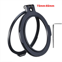 Camera Accessory Quick Switch Bracket for 58mm 67mm 72mm 77mm 82mm DSLR Lens Adapter Flip
