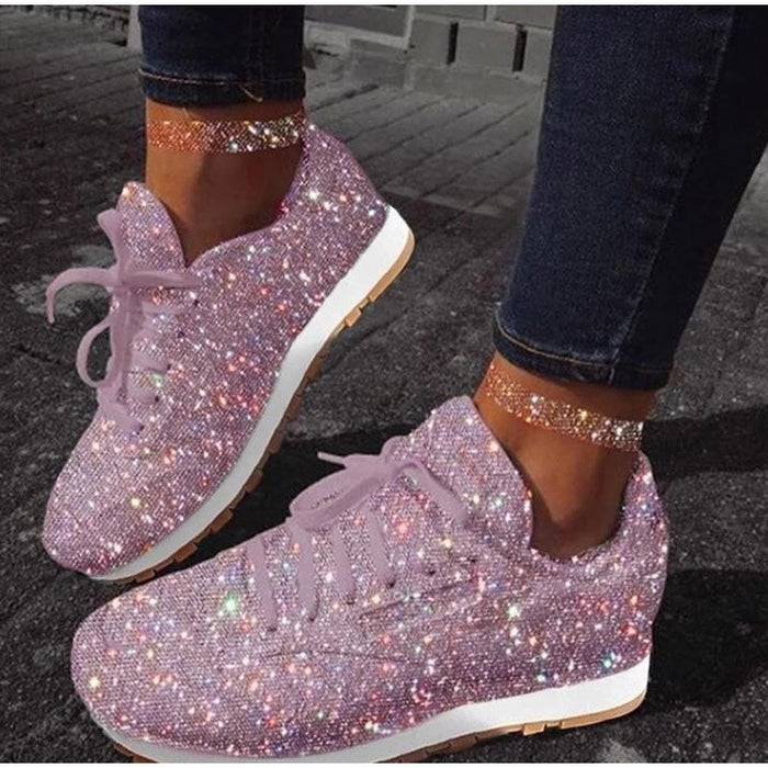 Women Chunky Shallow Sneakers Platform Woman Casual Footwear Female Pink Vulcanized Shoes