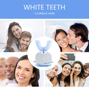 360 Degrees Intelligent Automatic Sonic Electric Toothbrush U Type Tooth Brush USB Charging Tooth Teeth Whitening Blue Light