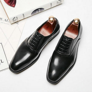 High Quality Party Office Men Dress Shoe Monk Oxfords Formal Shoes Men Genuine Leather Wedding Suit  Pointed toe Shoes A51-03