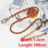 CETIRI Luxury Brand Chian Belts For Women Charm Metal Buckle Statement Belts Female